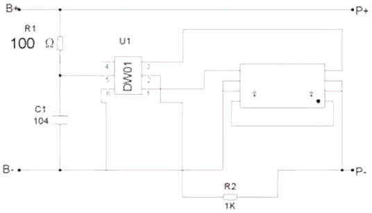 12v锂电池保护板电路图