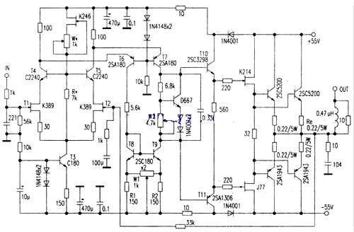 场效应管功放电路图