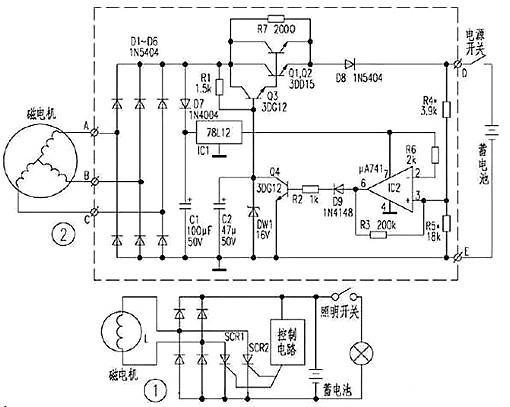 适用于摩托车音响等简单的电路中.