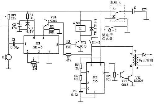 该信号触发双向晶闸管v3导通.
