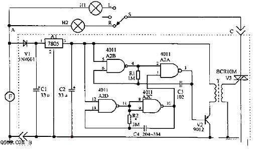 自行车尾灯发光原理图 20种摩托车电路图 解析摩托车各部件电路图和结
