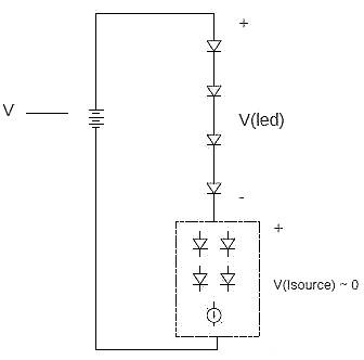LED恒流源电路图