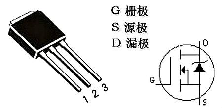 MOS管三个引脚实物图