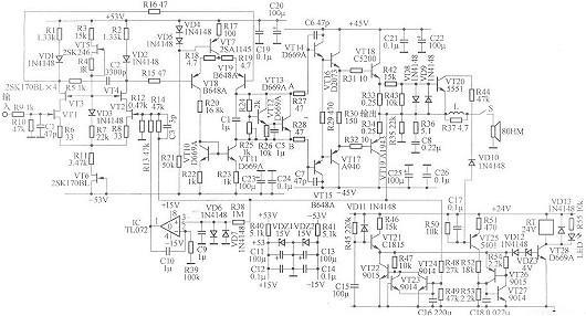 场效应管功放电路-场效应管功放自制电路图工作原理详解-kia mos管