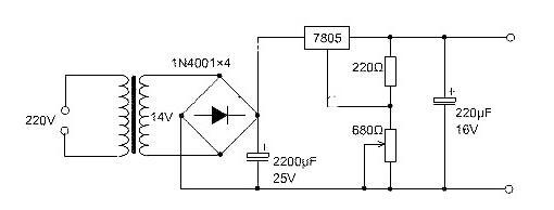 三端稳压管7805引脚