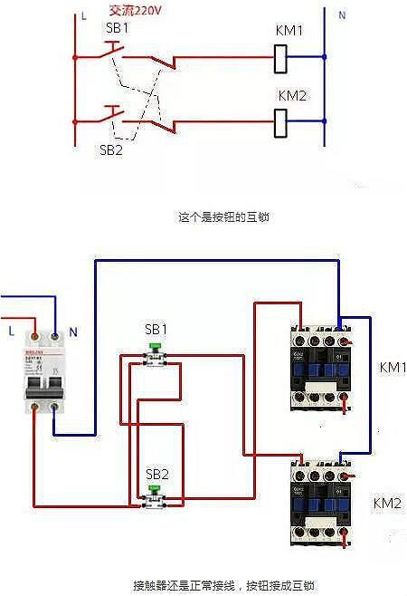接触器的常用电路图讲解和实物图-电子电工电路图详解