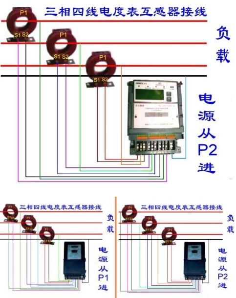 互感器电表接线图视频及电量如何计算-互感电表与普通