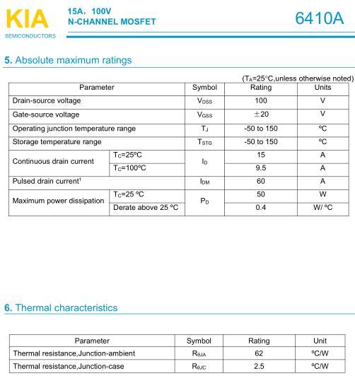 KIA6410替代,TIP122,MOS管