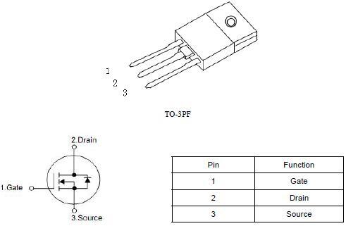 高压MOS管,KNX42150A,2.8A/1500V