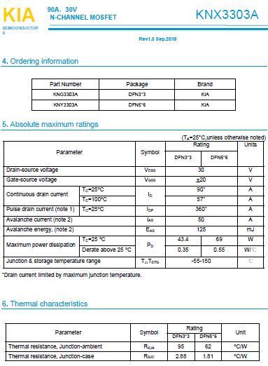 低压MOS管,3303A,90A/30V