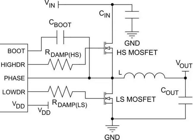 4 buck的开关损耗示意 图1.5是mosfet的寄生电容示意,图1.