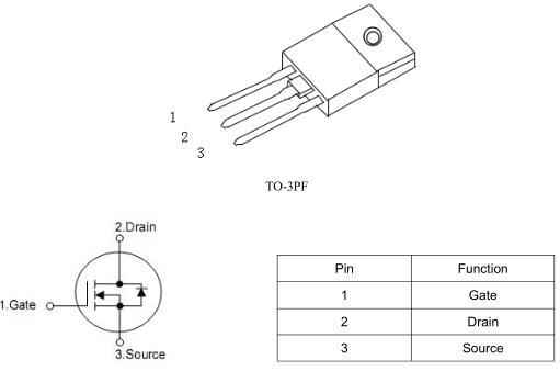 高压MOS管,42150A,TO-3PF封装