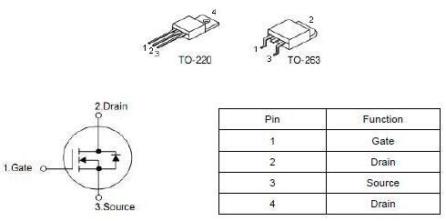 安定器,MOS管75NF75,80A/80V