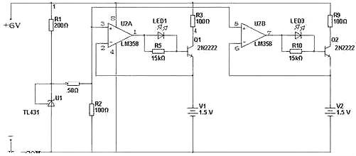 1,lm358碱性电池充电器电路图