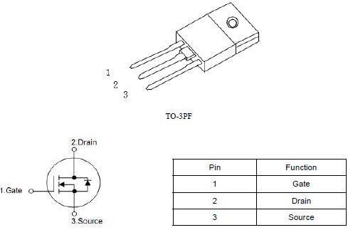 开关电源MOS管,KNX42150A,2.8A/1500V