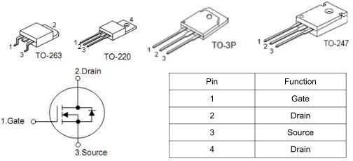 充电器MOS管,KIA2906A,130A/60V