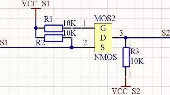 mos管电平转换电路