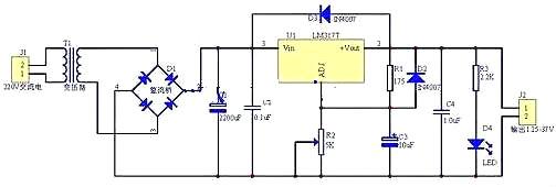 直流降压原理-简单直流降压电路图与降压变换器电路图