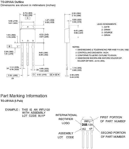 irfr5410 mos管引脚图