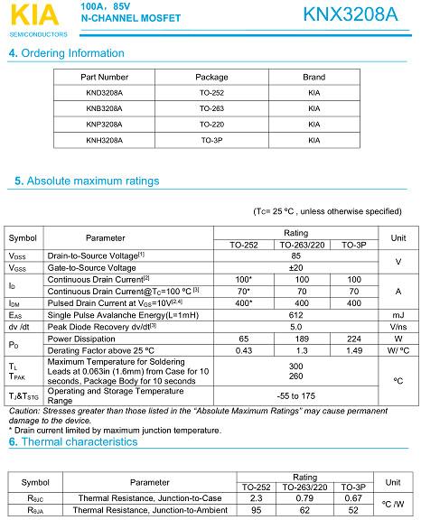 17串保护板,KNB3208A,100A/85V
