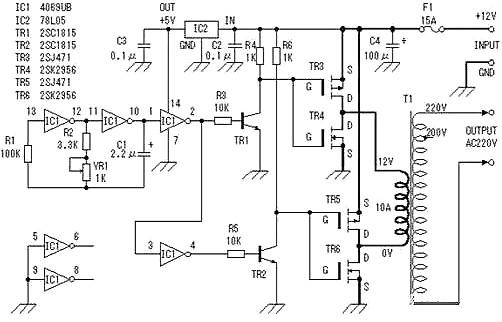 12v升220v升压电路图大全详解-升压电路的制作与电路图-kia mos管