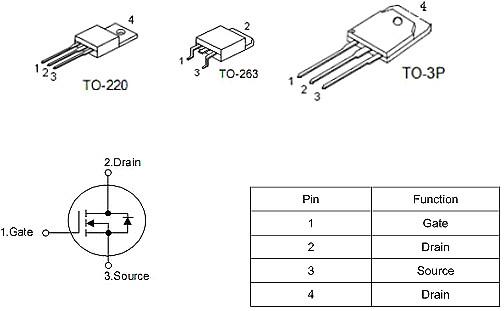 17-21串保护板专用MOS KNB2910A 130A/100V规格书 性价比高-KIA MOS管