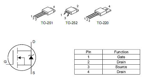 3-4串保护板MOS管,50A/ 30V,50N03