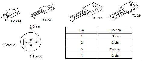 10串-16串保护板MOS管,150A/ 80V,KNB2808A