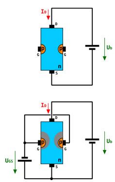 结型场效应管符号