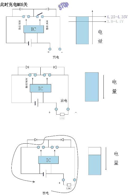 电池保护板原理图