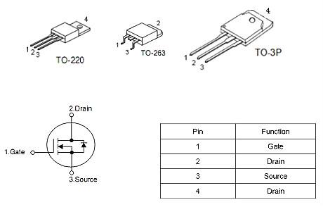 5G通讯基站保护板专用MOS管,2910,130A/100V