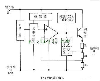 三端稳压管内部电路图