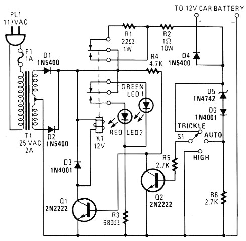 12v充电器电路图(五)
