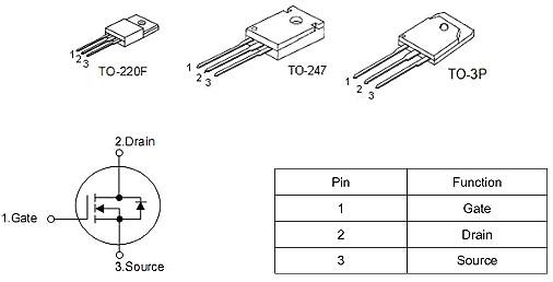 MOS管 20N50 20A/500V规格书参数 原装正品 质量保证 免费送样-KIA MOS管