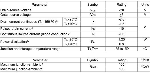 MOS管,KIA2301,-2.8A/-20V