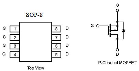 MOS管,-5.3A/-30V,KIA9435A