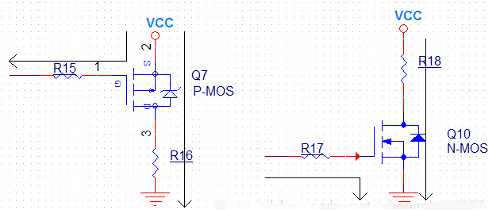 P沟道,电极,MOS管