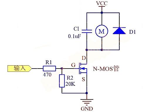 无刷直流电机MOS管烧坏