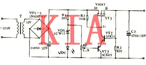 场效应管的可调稳压电源介绍及原理图-KIA MOS管