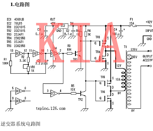 MOS管、变压器搭建的逆变器电路详解-KIA MOS管