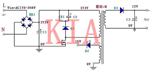 开关电源元器件的电压应力分析-KIA MOS管